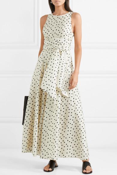 DIANE VON FURSTENBERG Dresses Polka-dot silk maxi dress