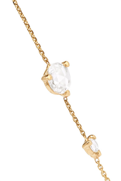 Linear 14-karat Gold Diamond Earrings - one size Wwake y1WyZ