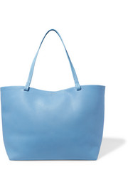 Park textured-leather tote
