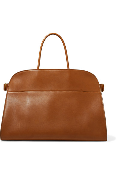 MARGAUX 17 BUCKLED LEATHER TOTE