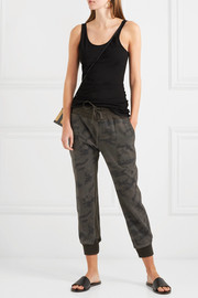 James Perse Camouflage-print cotton-jersey track pants