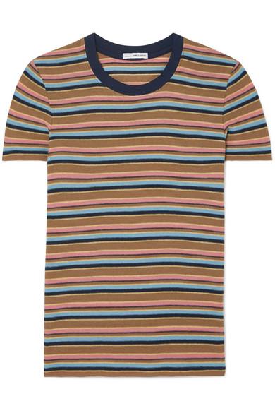 James Perse - Vintage Boy Striped Cotton-blend Jersey T-shirt - Brown