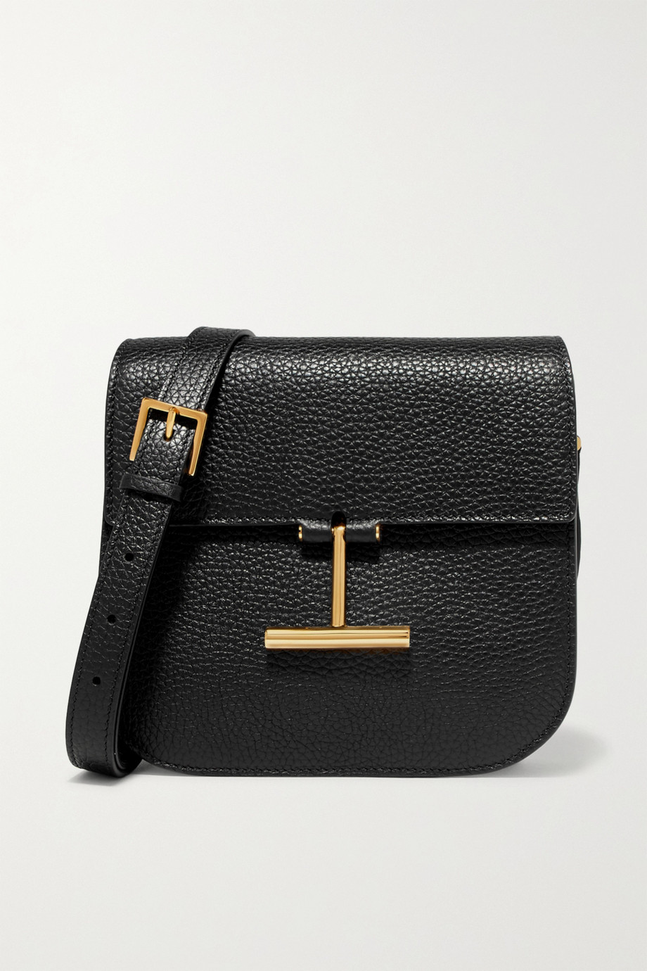 TOM FORD Tara small textured-leather shoulder bag