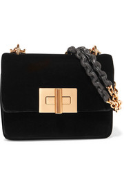 Natalia velvet shoulder bag