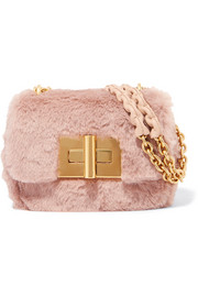 Natalia mini faux fur shoulder bag