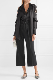 REDValentino Cropped cady wide-leg pants
