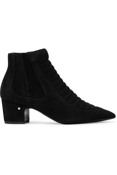 LAURENCE DACADE SULLY QUILTED SUEDE ANKLE BOOTS