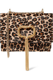 Roger Vivier Embellished leopard-print pony hair shoulder bag