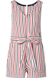 Amanda striped cotton-jersey playsuit