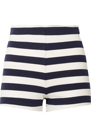 Lucy striped cotton-jersey shorts