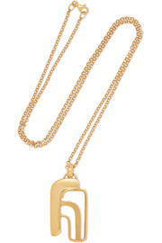 14-karat gold-plated necklace