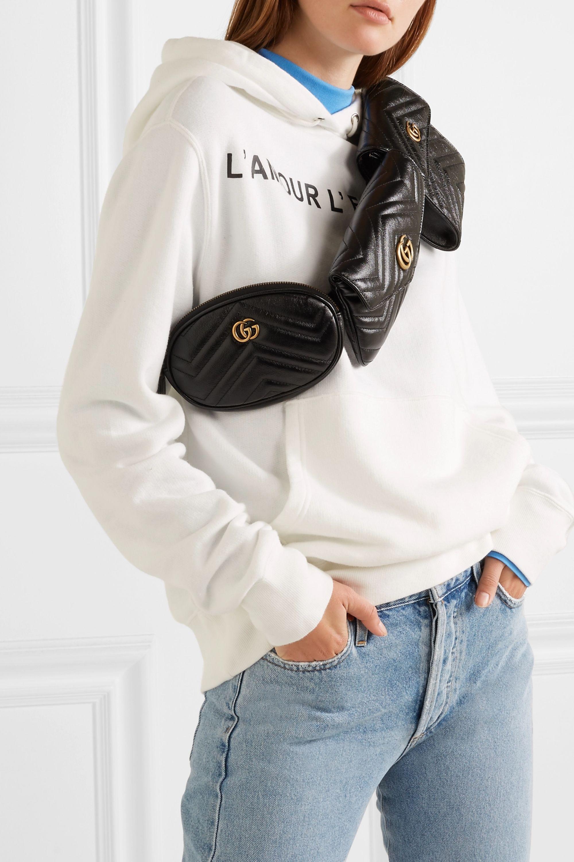 Gucci Sac-ceinture en cuir matelassé GG Marmont