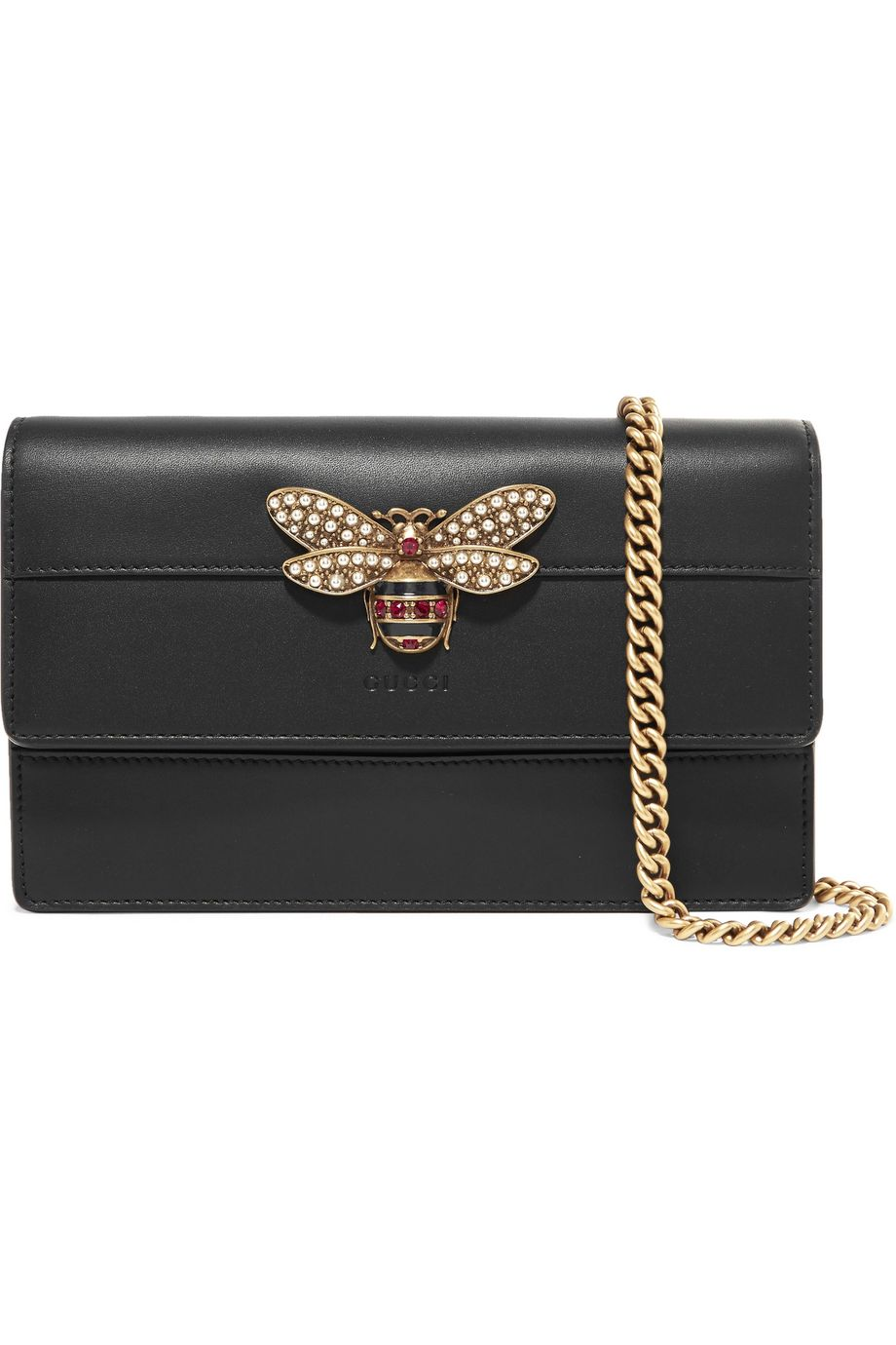 Gucci Queen Margaret embellished leather shoulder bag