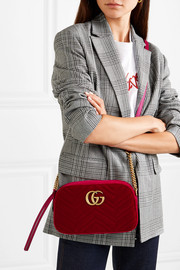 GG Marmont small quilted velvet shoulder bag