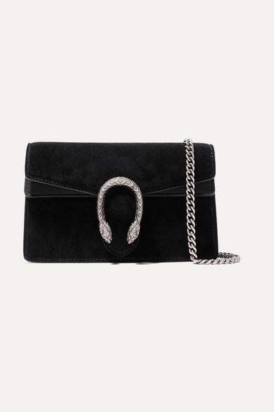 Dionysus super mini suede and leather shoulder bag