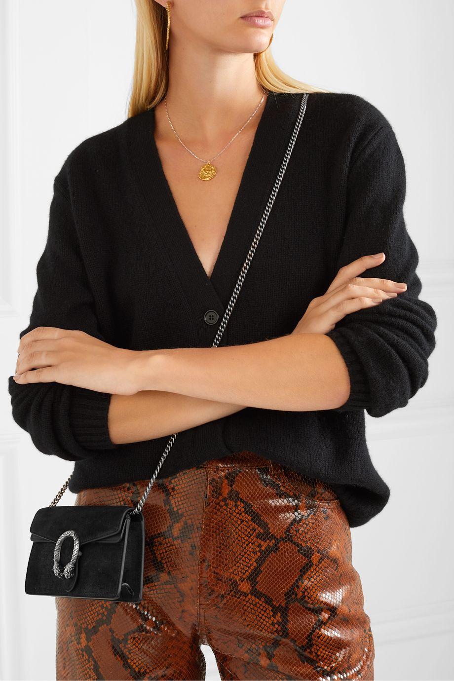 Gucci Dionysus super mini suede and leather shoulder bag