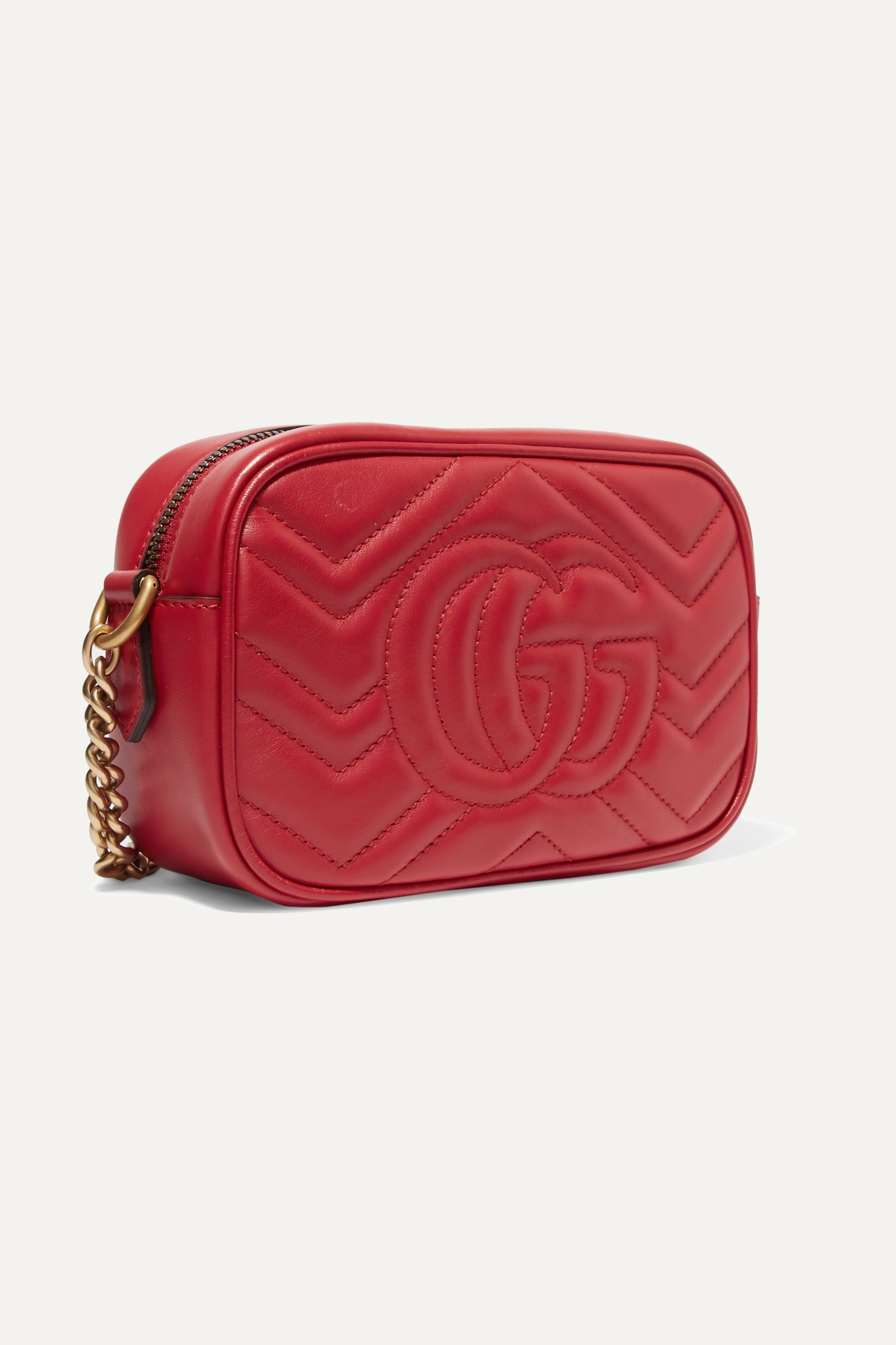 Black GG Marmont Camera mini quilted leather shoulder bag