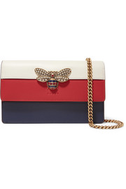 Gucci Queen Margaret embellished color-block leather shoulder bag