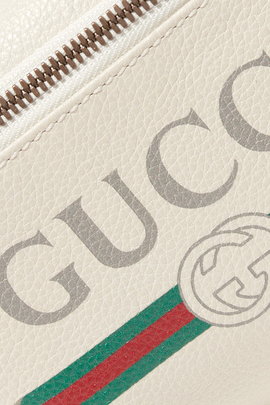 8bd6670a373 Gucci. Printed textured-leather belt bag.  1