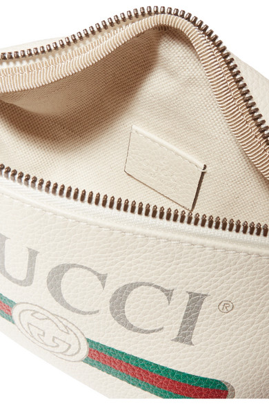 GUCCI Belt bags Printed textured-leather belt bag