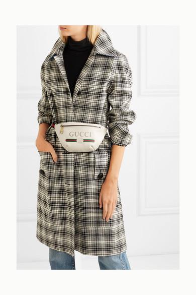 40927dd32d7d Gucci | Printed textured-leather belt bag | NET-A-PORTER.COM
