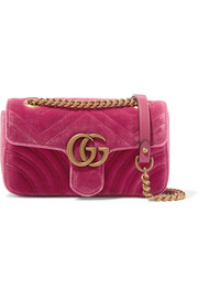 GG Marmont mini quilted velvet shoulder bag