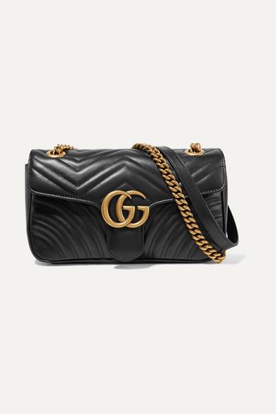 a075b01b3017 Gucci   Sac porté épaule en cuir matelassé GG Marmont Small   NET-A-PORTER .COM