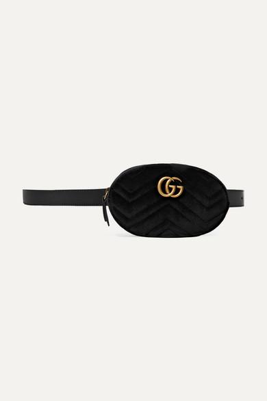 Sac ceinture en velours matelassé GG Marmont 09BFqc3y