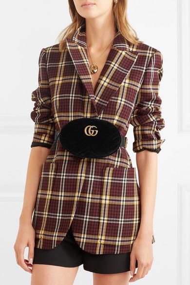 230fcb9891ccf GG Marmont quilted velvet belt bag