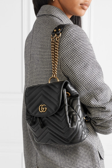 c9908d443a5 GG Marmont quilted leather backpack