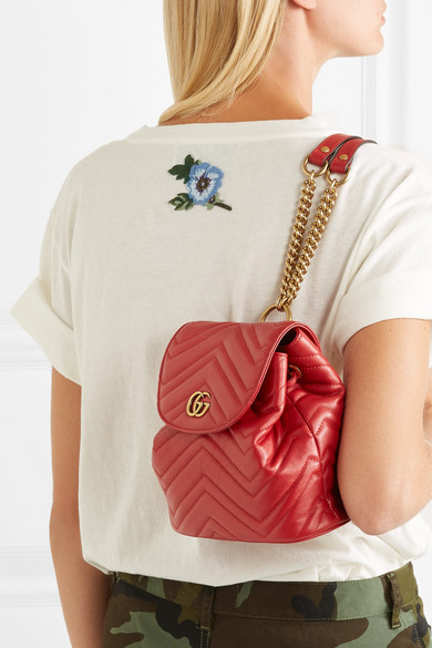 f5da546ca8a5 Gucci | GG Marmont quilted leather backpack | NET-A-PORTER.COM