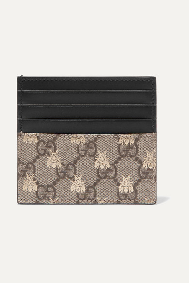 0896ecd1a76067 Gucci | Printed coated-canvas cardholder | NET-A-PORTER.COM