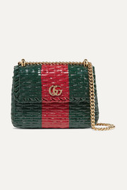 Gucci Mini coated-wicker shoulder bag