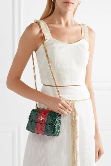 5f4e2787f Gucci | Mini coated-wicker shoulder bag | NET-A-PORTER.COM