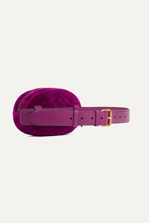 Gucci GG Marmont quilted velvet belt bag