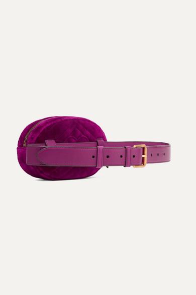 103fd94cd27 Gucci. GG Marmont quilted velvet belt bag