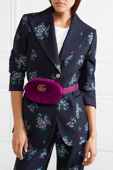 1a66f6529b124d Gucci | GG Marmont quilted velvet belt bag | NET-A-PORTER.COM
