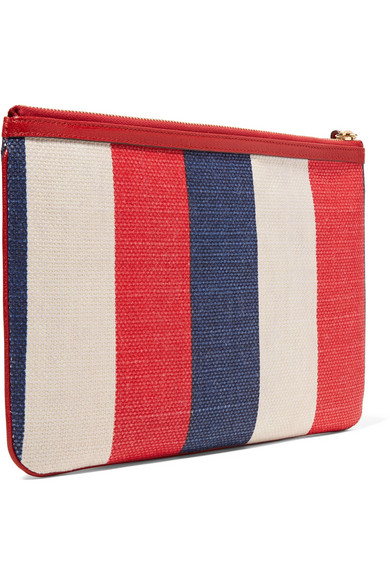 ee1de069ac1 Gucci. Printed canvas and leather pouch
