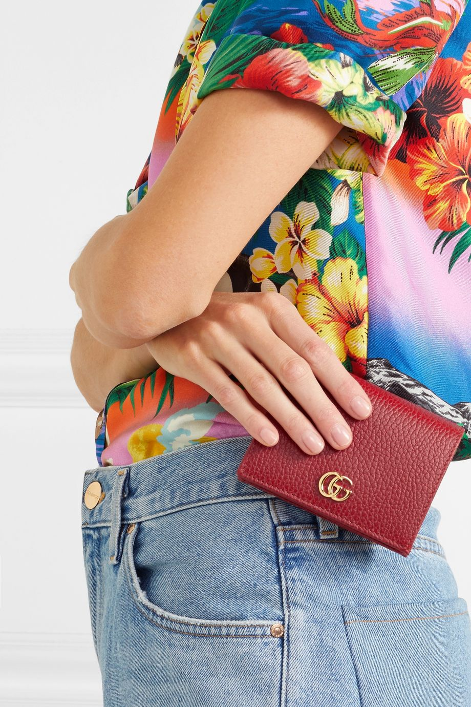 Gucci Marmont Petite textured-leather wallet