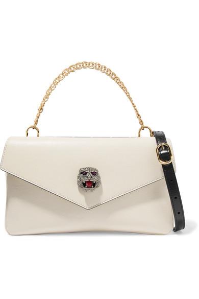 0d6189772dc5 Gucci   Thiara embellished printed leather shoulder bag   NET-A-PORTER.COM