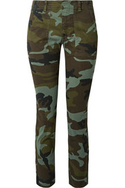 Jenna camouflage-print stretch-cotton slim-leg pants