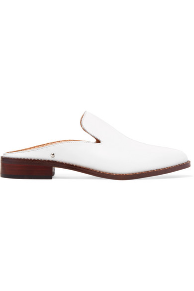 Clearance For Sale Sam Edelman Crystal-embellished Leather Slippers Discount 100% Guaranteed OzdUALk5