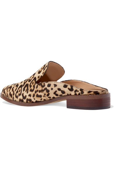 Sam Edelman Crystal-embellished Leopard-print Calf Hair Slippers - Leopard print With Credit Card Online For Cheap For Sale Designer Cheap Sale Fake 7v0p4Y0r