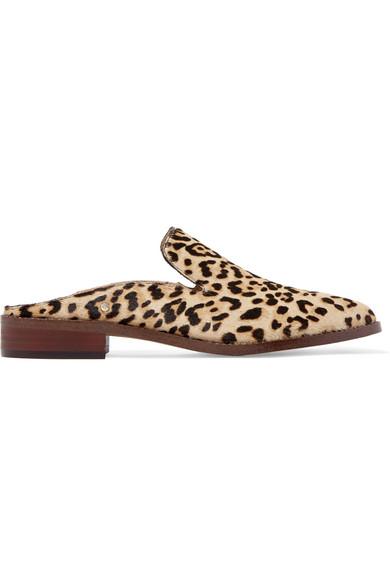 ccd78dbb14c Crystal-embellished leopard-print calf hair slippers