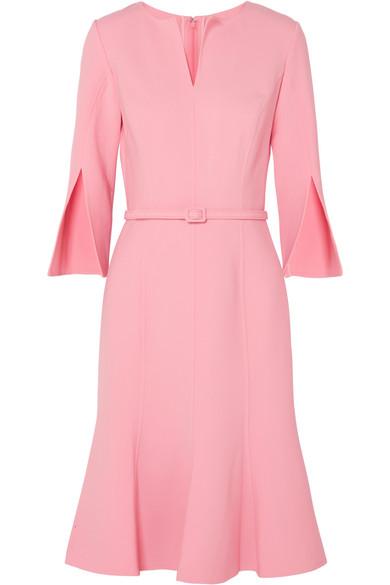 05e3308fdd Oscar De La Renta Split-Sleeve Fit-And-Flare Stretch-Wool Dress In ...