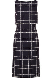 Oscar de la Renta Checked cotton-blend bouclé midi dress