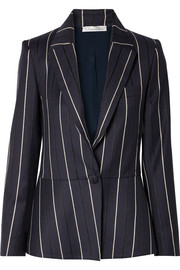 Striped wool-blend blazer