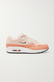 Air Max 1 two-tone suede sneakers