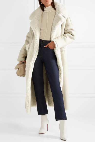 Oversized Reversible Shearling Coat by Oscar De La Renta