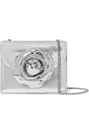 TRO mini embellished metallic textured-leather shoulder bag